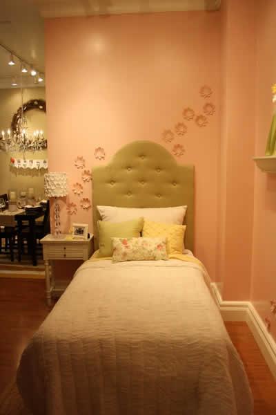 chambre princesse beige saumon