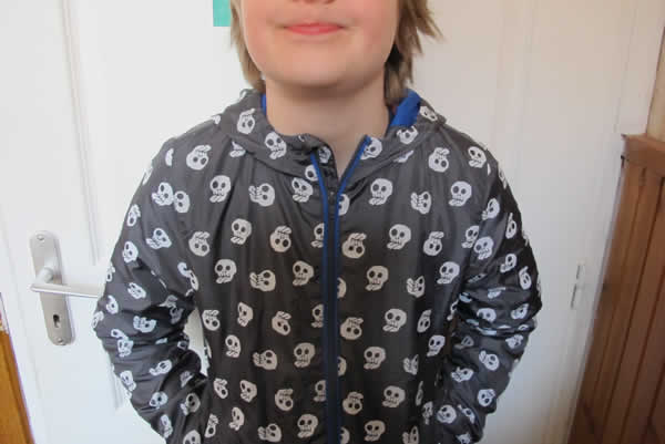 blouson magic print tete de mort