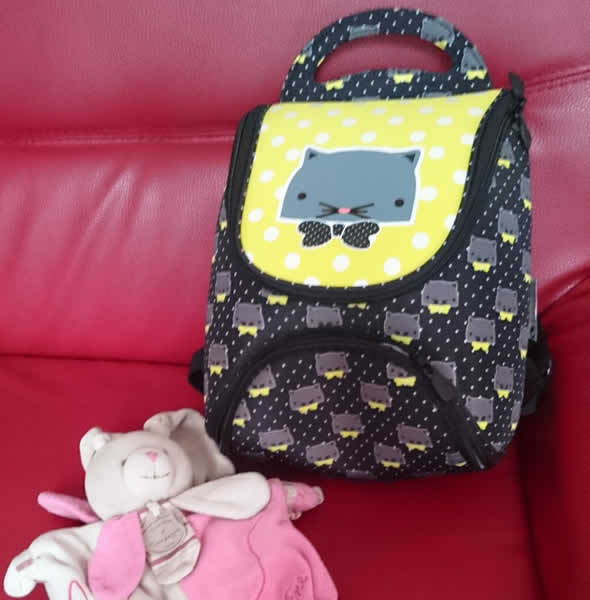 auchan sac maternelle chat