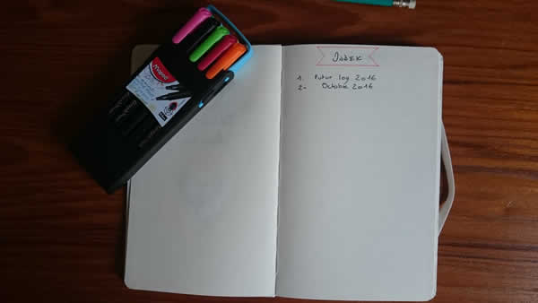 index du bullet journal