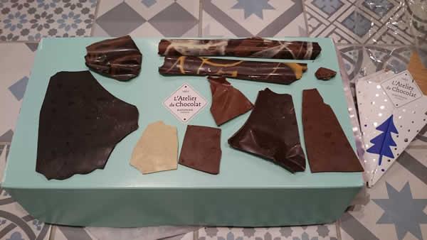 chocolat de noël de l'atelier du chocolat