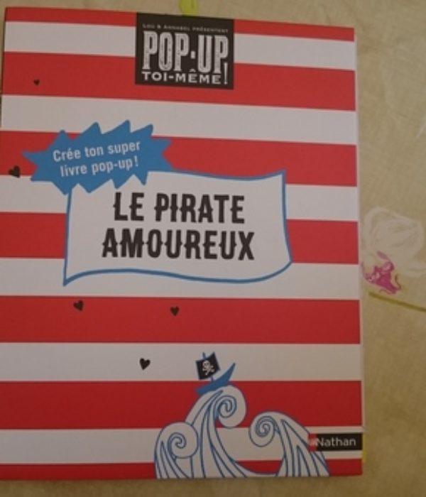 livre pop up le pirate amoureux