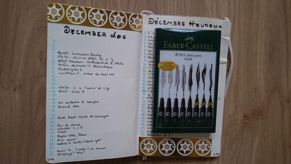 bullet journal gratitude décembre