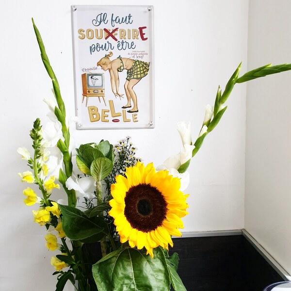 bouquet de fleurs avec tournesol